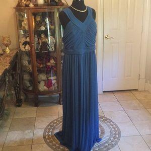 Nwt Alfred sung bridesmaid dress ocean blue 20